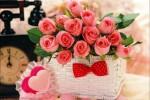 Bó hoa hồng tặng mẹ