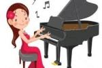 Chiếc đàn Piano màu gụ đỏ