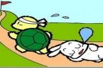 Hai con cò và con rùa