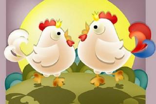 Người săn chim, gà gô và gà trống